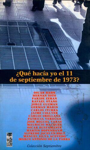QUE HACIA YO EL 11 DE SEPTIEMBRE?
