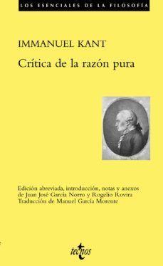 CRITICA DE LA RAZON PURA