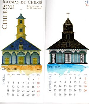 CALENDARIO IGLESIAS DE CHILOE 2021