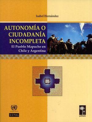 AUTONOMIA O CIUDADANIA INCOMPLETA