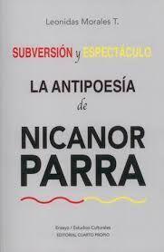 SUBVERSION Y ESPECTACULO.  LA ANTIPOESIA DE NICANO
