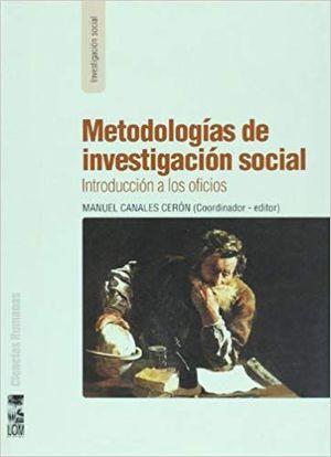 METODOLOGIAS DE INVESTIGACION SOCIAL