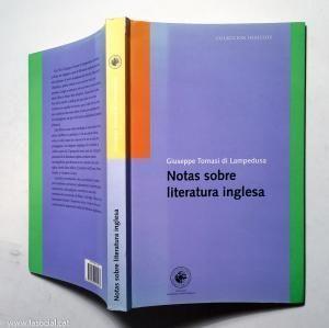 NOTAS SOBRE LITERATURA INGLESA