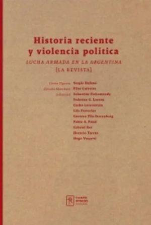 HISTORIA RECIENTE Y VIOLENCIA POLITICA