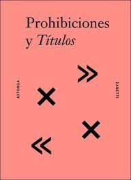 PROHIBICIONES Y TITULOS