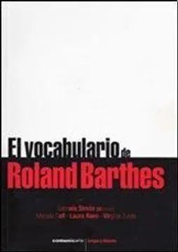 VOCABULARIO DE ROLAND BARTHES