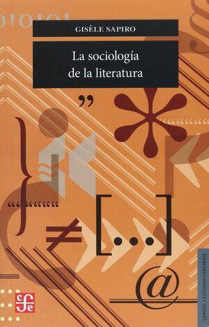 LA SOCIOLOGIA DE LA LITERATURA